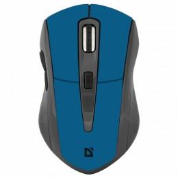 Мышь беспроводная DEFENDER Accura MM-965, USB, 5 кнопок+1 колесо-кнопка, оптическая, голубая, 52967