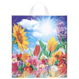 Пакет с петлевой ручкой ПНД, 42х38 см, Море цветов, 37 мкм, н00084436