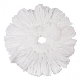 Насадка МОП круглая для швабры из набора для уборки, крепление - кольцо, микрофибра, d - 16 см, ЛАЙМА, 603626