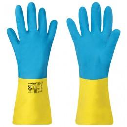 Перчатки неопрен ЛАЙМА НЕОПРЕН EXPERT, 100гр/пара, химически устойчивые, х/б напылени, 605006