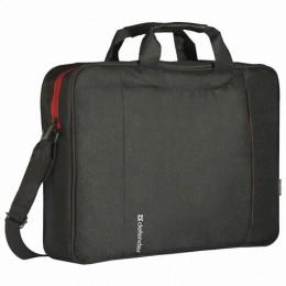 Сумка для ноутбука DEFENDER GEEK 15,6, полиэстер, черная с карманом, 26084