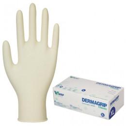 Перчатки латексные смотровые, КОМПЛЕКТ 50 пар(100шт),неопудр,хлоринация XL Dermagrip Classic, шк1039, D1504-10