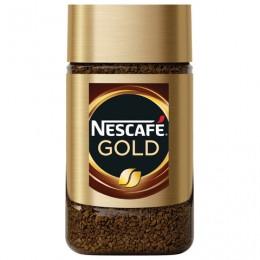 Кофе молотый в растворимом NESCAFE (Нескафе) Gold, сублимированный, 47,5 г, стеклянная банка, 12135509