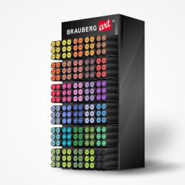 Дисплей настольный для размещения маркеров для скетчинга BRAUBERG ART, 30 ячеек, 180 маркеров, 504907
