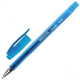 Ручка гелевая BRAUBERG Income, СИНЯЯ, корпус тонированный, игольчатый узел 0,5 мм, линия письма 0,35 мм, 141516