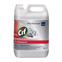 Средство для туалетных комнат 5 л, CIF (Сиф) Professional, 2 в 1, 7518652
