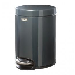 Ведро-контейнер для мусора (урна) с педалью DURABLE (Германия), 5 л, темно-серое, 3410-58