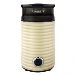 Кофемолка SCARLETT SC-CG44502, 160 Вт, объем 60 г, пластик, ножи из нержавеющей стали, бежевая/черная, SC - CG44502