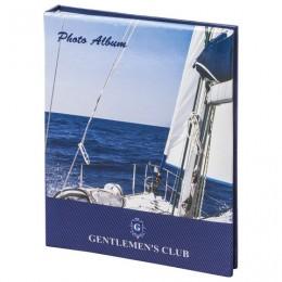 Фотоальбом BRAUBERG на 104 фотографии 10х15 см, твердая обложка, Вид с яхты, синий, 390664