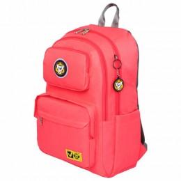 Рюкзак BRAUBERG LIGHT молодежный, с отд. для ноутбука, нагрудн. ремешок, розовый, 47х31х13 см,270298