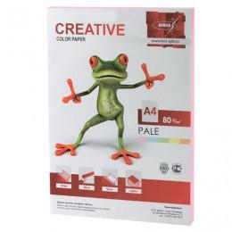 Бумага CREATIVE color (Креатив) А4, 80 г/м2, 100 л., пастель розовая, БПpr-100р