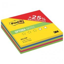Блок самоклеящийся (стикер) POST-IT ORIGINAL Весна Плюс 76х76 мм, 125 л., ассорти, 654-OGP