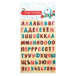 Наклейки ЛИПУНЯ Алфавит русский, блестящие, с европодвесом, GS025
