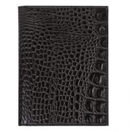 Бумажник водителя BEFLER Кайман, натуральная кожа, тиснение, 6 пластиковых карманов, черный, BV.22.-13