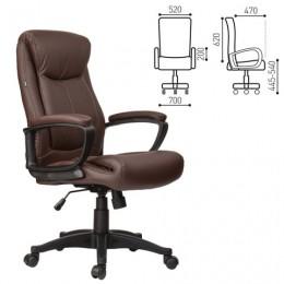 Кресло офисное BRABIX Enter EX-511, экокожа, коричневое, 531163