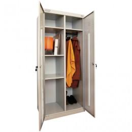 Шкаф металлический хозяйственный ШМ-У 22-800, двухсекционный, 1850х800х500 мм, 38 кг, разборный