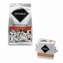 Шоколад порционный RIOBA Молочный 32 %, 800г, пакет, ш/к 92230, 366305