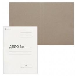 Папка без скоросшивателя Дело, картон, плотность 300 г/м2, до 200 листов, BRAUBERG, 124571