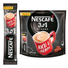 Кофе растворимый NESCAFE 3 в 1 Крепкий, 20 пакетиков по 16 г (упаковка 320 г), 12235512
