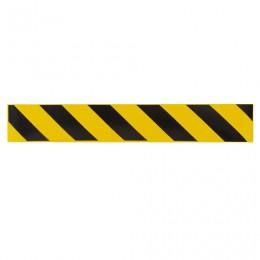 Полоса для напольной разметки желто-черная, самоклеящаяся, размер 500мм*80мм, КОМПЛЕКТ 6шт, КП04