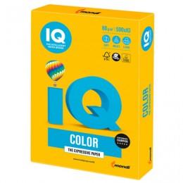 Бумага IQ color БОЛЬШОЙ ФОРМАТ (297х420 мм), А3, 80 г/м, 500 л., интенсив, солнечно-желтая, SY40