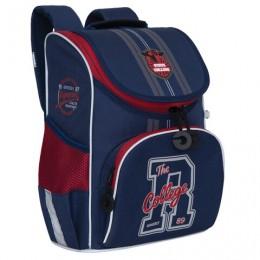 Ранец GRIZZLY школьный, с сумкой для обуви, анатомическая спинка, College, 33x25x13см, RAm-085-1 /2