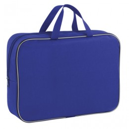 Папка для тетрадей с ручками ПИФАГОР, А4, ширина 80 мм, ткань, молния вокруг, синяя, 228375