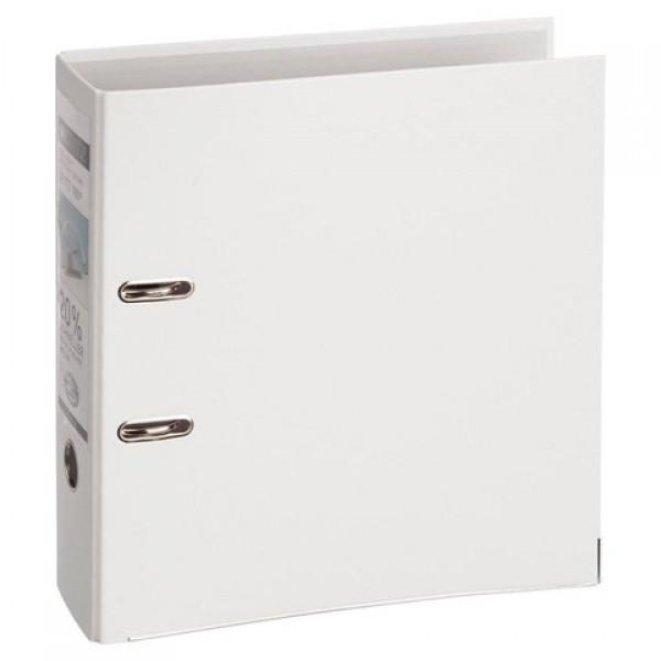 Папка-регистратор LEITZ, механизм 180°, покрытие пластик, 80 мм, белая, 10101201