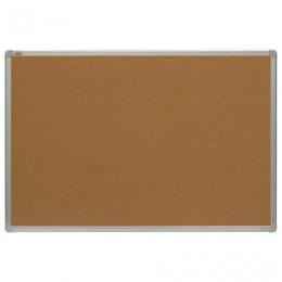 Доска пробковая 100x150 см, алюминиевая рамка, OFFICE,