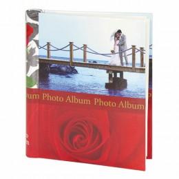 Фотоальбом BRAUBERG на 20 магнитных листов, 23х28 см, Чувства, красный, 390685