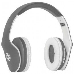 Наушники с микрофоном (гарнитура) DEFENDER FREEMOTION B525, Bluetooth, беспроводные, серые с белым, 63527
