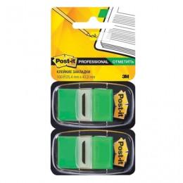 Закладки клейкие POST-IT Professional, пластиковые, 25 мм, 100 шт., зеленые, 680-GN2