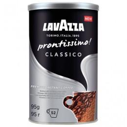 Кофе молотый в растворимом LAVAZZA Prontissimo Classico, сублимированный, 95 г, жестяная банка, 5330
