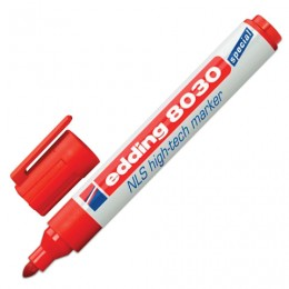 Маркер для промышленной маркировки EDDING 8030, КРАСНЫЙ, 1,5-3 мм, антикоррозионный, круглый наконечник, E-8030/2