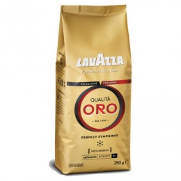 Кофе в зернах LAVAZZA Qualita Oro, арабика 100%, 250 г, вакуумная упаковка, 2051