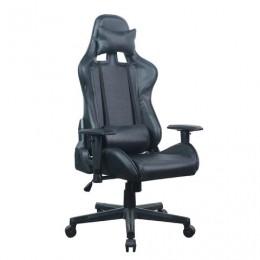 Кресло компьютерное BRABIX GT Carbon GM-115, две подушки, экокожа, черное, 531932