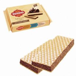 Вафли ЯШКИНО Вафельный сэндвич, с прослойкой из шоколадной глазури, 180 г, КВ202