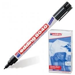 Маркер для ткани EDDING 8040, ЧЕРНЫЙ, 1 мм, устойчивый к стирке и кипячению, E-8040/1