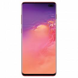 "Смартфон SAMSUNG Galaxy S10+, 2 SIM, 6,4"", 4G (LTE), 16/10 + 8 + 12 + 12 Мп, 128 ГБ, гранат, металл, SM-G975FZRDSER"