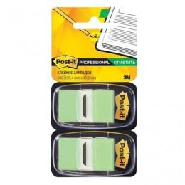 Закладки клейкие POST-IT Professional, пластиковые, 25 мм, 100 шт., светло-зеленые, 680-BG2