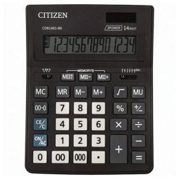 Калькулятор настольный CITIZEN BUSINESS LINE CDB1401BK (205x155 мм), 14 разрядов, двойное питание