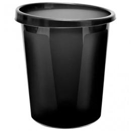 Корзина для бумаг СТАММ цельная, 9 л, черная, КР60