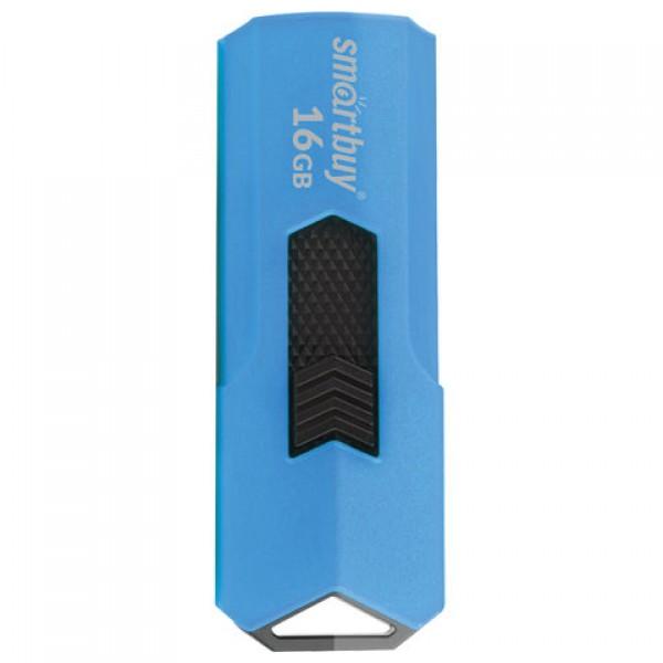 Флеш-диск 16 GB SMARTBUY Stream USB 2.0, синий, SB16GBST-B