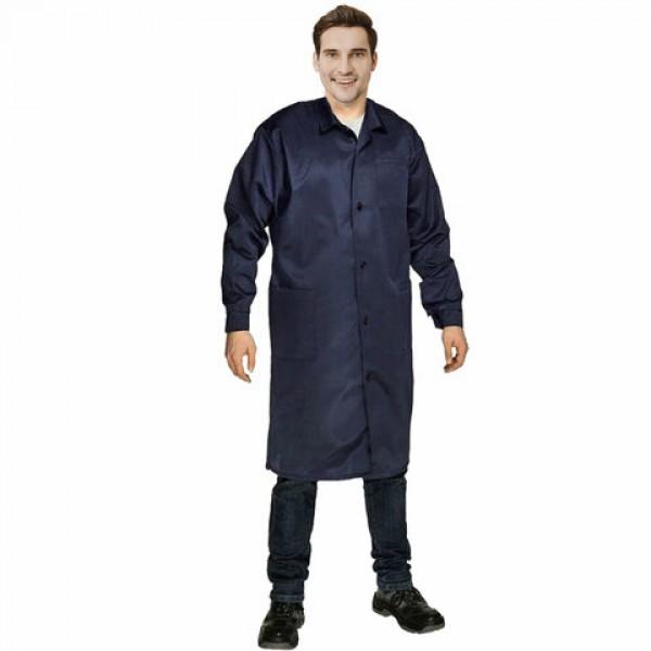 Халат технолога мужской синий, смесовая ткань, размер 60-62, рост 170-176, плотность 200 г/м2, 610791