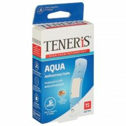 Набор пластырей 15 шт. TENERIS AQUA водонепроницаемый, на полимерной основе, коробка с европодвесом, 0208-004