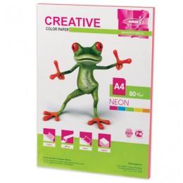 Бумага CREATIVE color (Креатив) А4, 80 г/м2, 50 л., неон, розовая, БНpr-50р