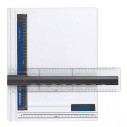 Доска чертежная STAEDTLER (Штедлер, Германия), формат А4, с рейсшиной, пластик, нескользящие резиновые ножки, 661 A4