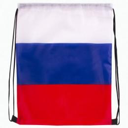 Сумка-мешок на завязках Триколор РФ, без герба, 32*42 см, BRAUBERG, 228327, RU36