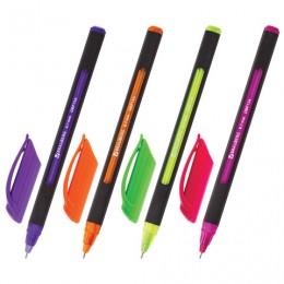 Ручка шариковая масляная BRAUBERG Extra Glide Soft Color, СИНЯЯ, узел 0,7 мм, линия письма 0,35 мм, 142928