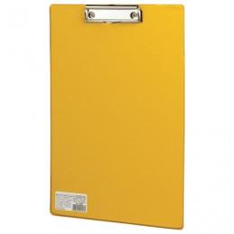 Доска-планшет BRAUBERG Comfort с прижимом А4 (230х350 мм), картон/ПВХ, РОССИЯ, ЖЕЛТАЯ, 222662